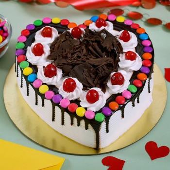 Blackforest Gems Heart Cake