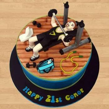 Birthday Gym Cake