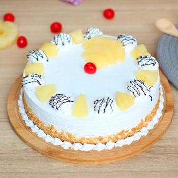 Eggless Pinapple Cake