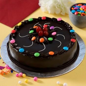 Eggless Truffle Gems Cake