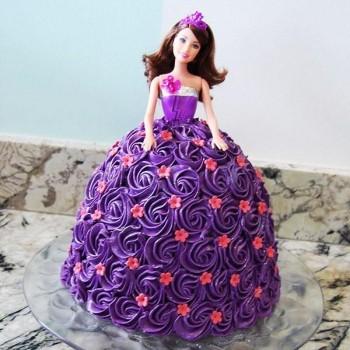 Purple Doll Cream Cake