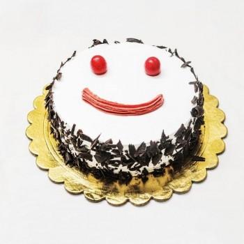 Smiley Blackforest Sugarfree Cake