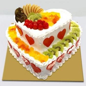 2 Layer Fruit Cake