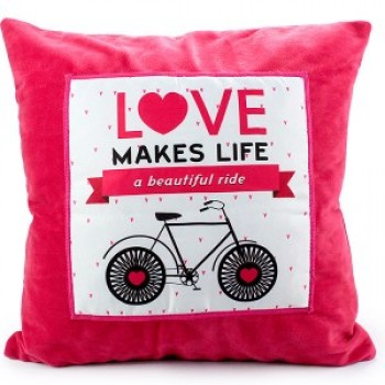 Love Makes Life a Beautiful Ride Cushion