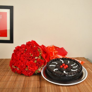 Carnations n Chocolate Truffle