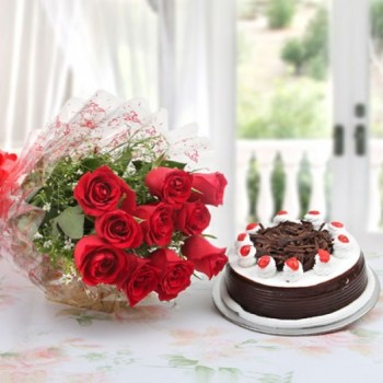 Roses and Chocolate Cake