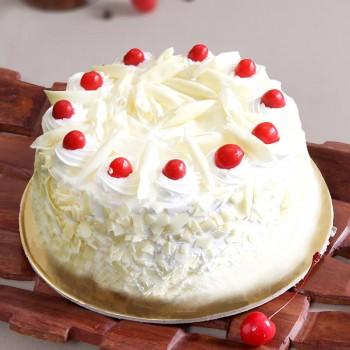 Sugar Free White Forest Cake