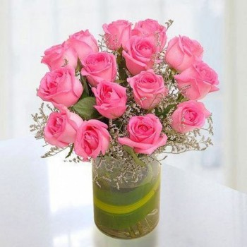 Pink Roses For Mom