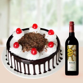 Half Kg Blackforest n Wine