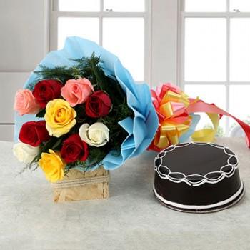 Truffle Cake and Roses