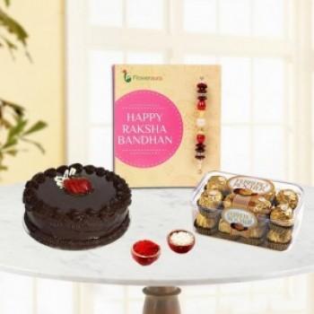 Rakhi with Cake and Ferrero