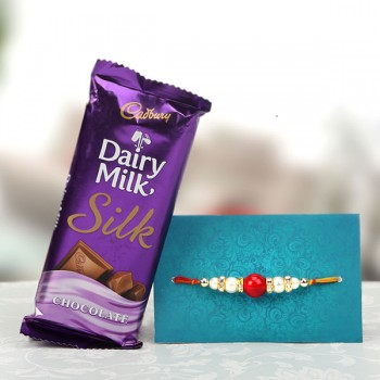Rakhi with Cadbury Silk Chocolate