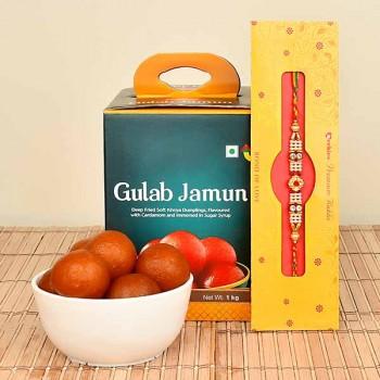 Rakhi with Gulab Jamun