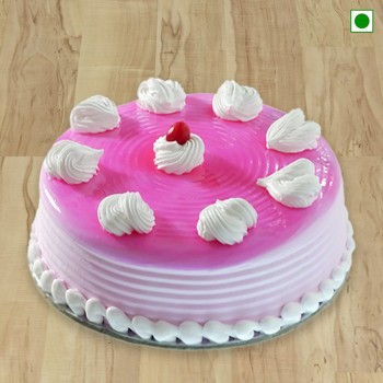 Strawberry Cake Eggless