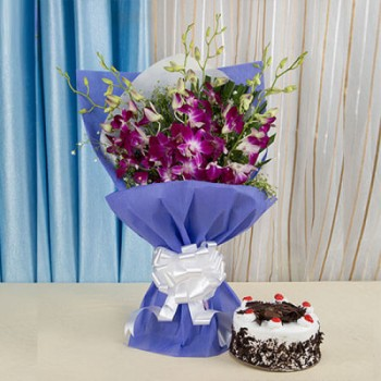 Orchids n Black Forest Cake