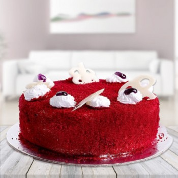 Eggless SugarFree Red Velvet Cake