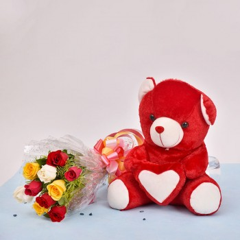 Mix Roses n Teddy