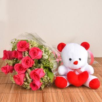 Pink Roses n Teddy