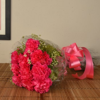 Pink Carnations Bunch
