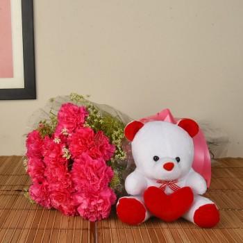 Pink Carnation n Teddy