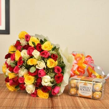 50 Mix Roses n Ferrero