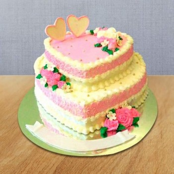 2 Tier Heart Shaped Cake