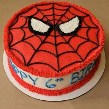 Spiderman Cream Cake