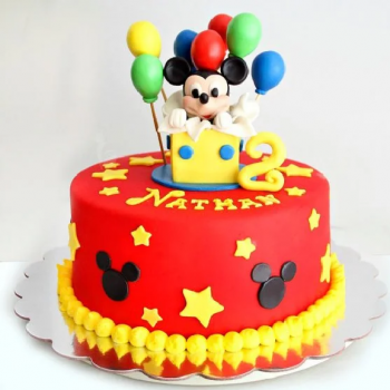 Adorable Mickey Mouse Cake