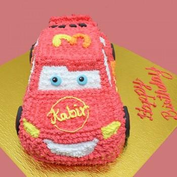 Mcqueen Car Shape Cake