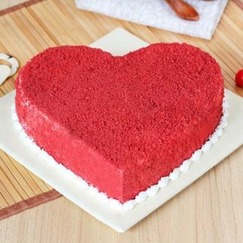 Sugarfree Red Velvet Heart Shaped