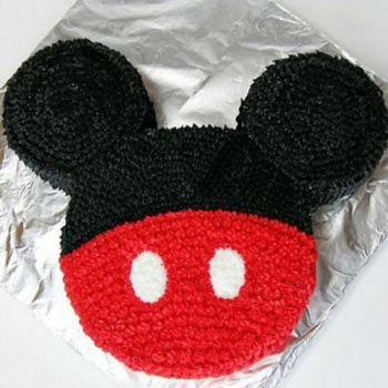 Red N Black Mickey Mouse Cake